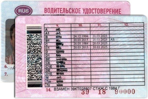 gcl в водительском удостоверении (правах) в 2020 - что означает