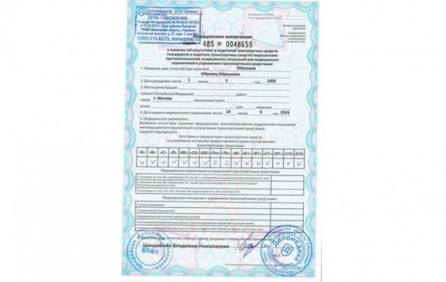 Медкомиссия на водительские права (удостоверение) в 2020 - где пройти, с наркологом и психиатром, документы, сколько стоит